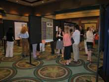 Attendees browsed the poster session and exhibit hall.